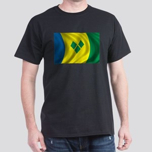 Flag of Saint Vincent and the Grenadines Dark T-Sh